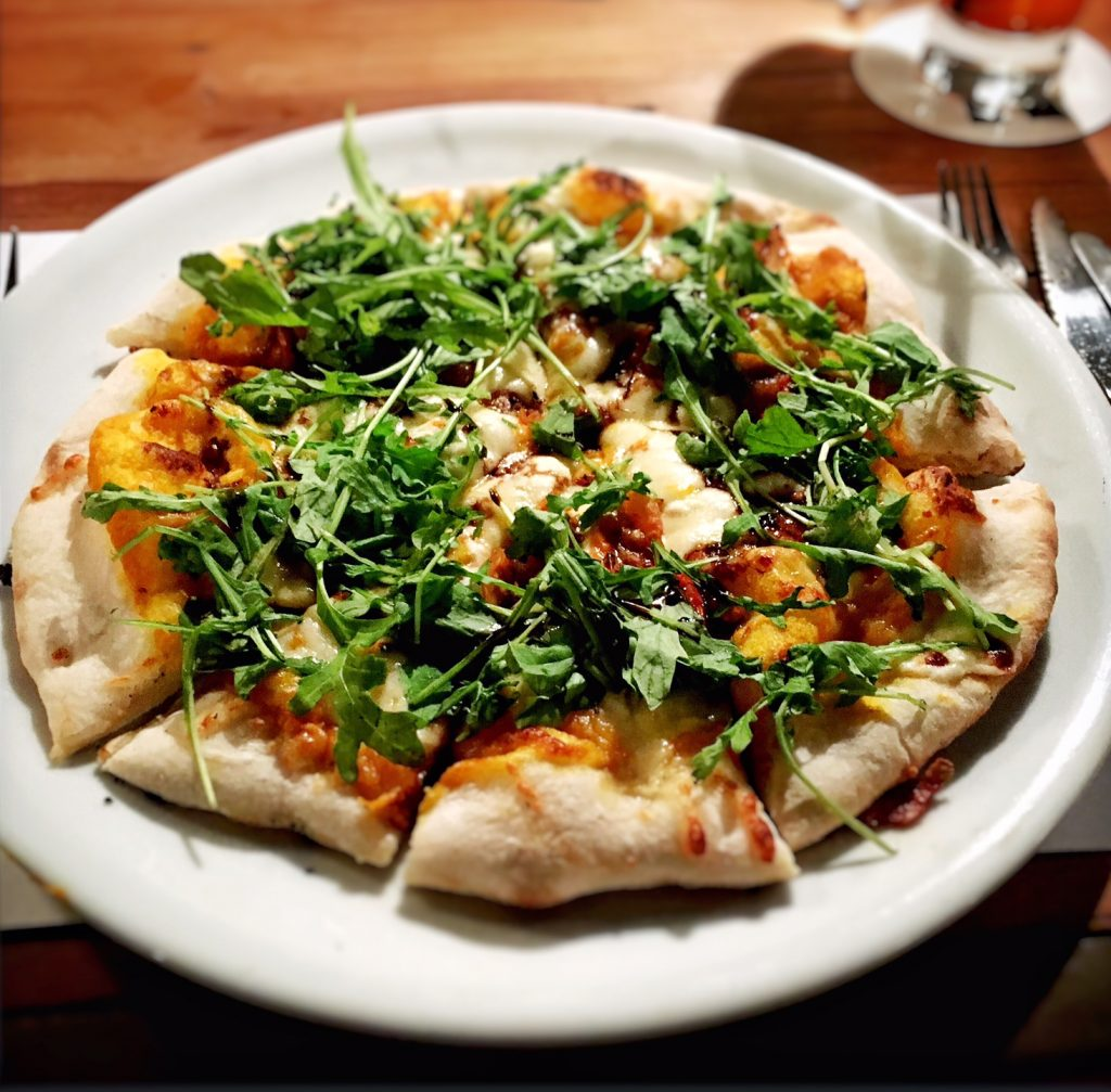 Arugula Goat Cheese Pizza - Anselmo Wine Bar